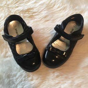 Shoes - Toddler Quilted Black Patent Leather MaryJanes